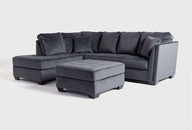 Maven Shadow 2 Piece Sectional With Laf Chaise And Cocktail Ottoman - 360