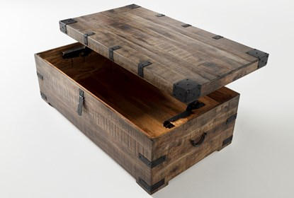 Wally Lift Top Trunk Coffee Table Living Spaces