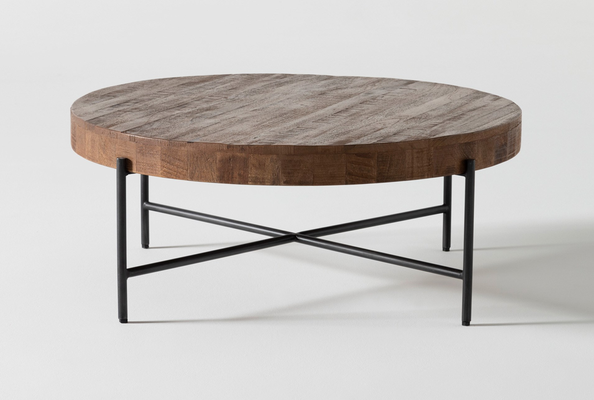 Dunkin 39 Inch Round Coffee Table Living Spaces
