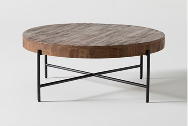 Dunkin 38 Inch Round Coffee Table