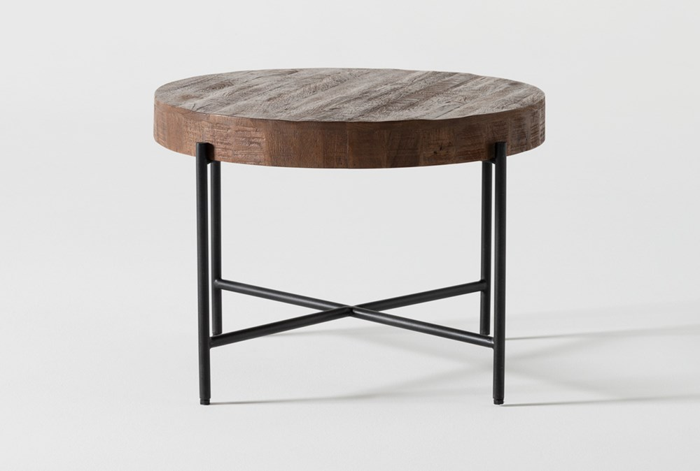 Dunkin 28 Inch Round Coffee Table, 28 Round Table