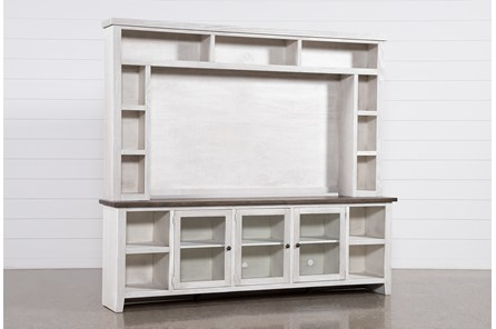 Dixon White 2 Piece Entertainment Center - Main