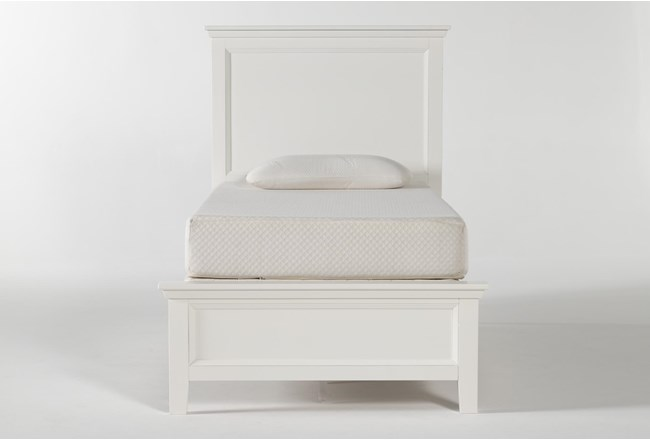Dawson White Twin Panel Bed - 360