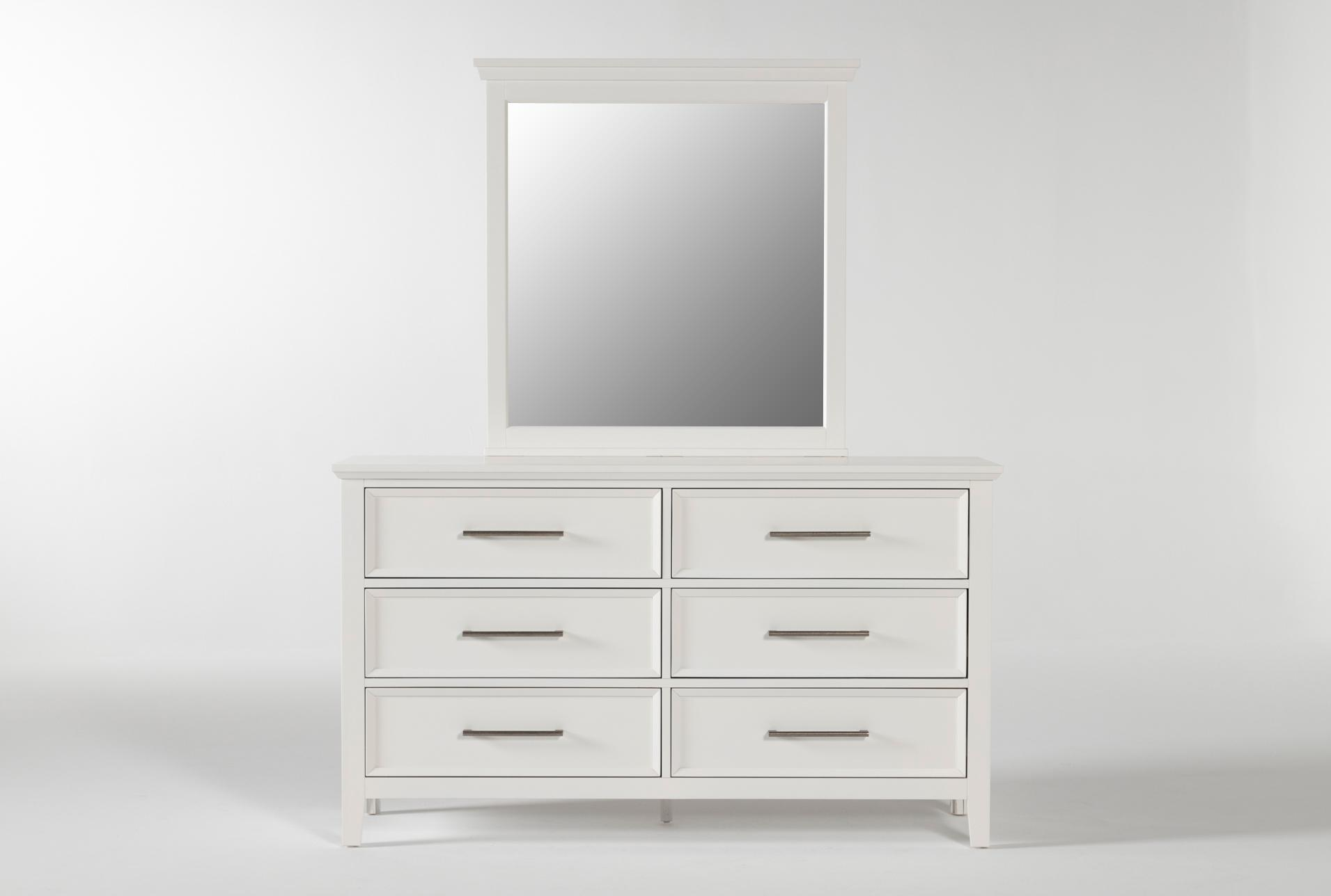 Dawson White Dresser Mirror Living Spaces