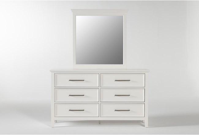 Dawson White Dresser/Mirror - 360