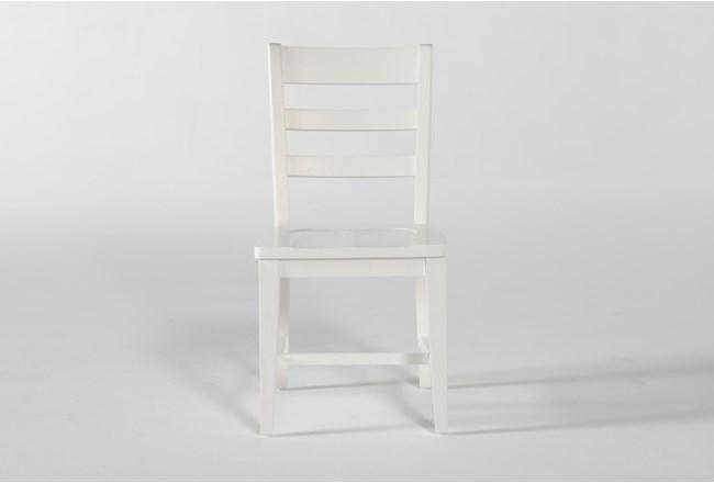 Dawson White Desk Chair - 360
