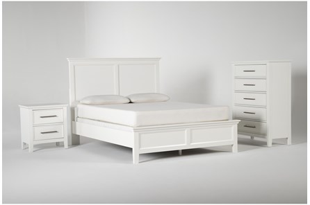Dawson White Queen 3 Piece Bedroom Set - Main