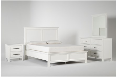 Dawson White Queen 4 Piece Bedroom Set - Main