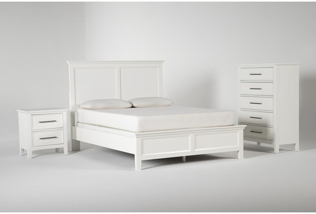 Dawson White California King 3 Piece Bedroom Set - 360