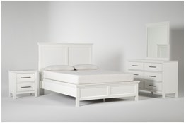 Dawson White Eastern King 4 Piece Bedroom Set
