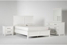 Dawson White Eastern King 4 Piece Bedroom Set