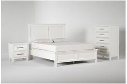 Dawson White Eastern King 3 Piece Bedroom Set