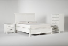 Dawson White Eastern King 3 Piece Bedroom Set