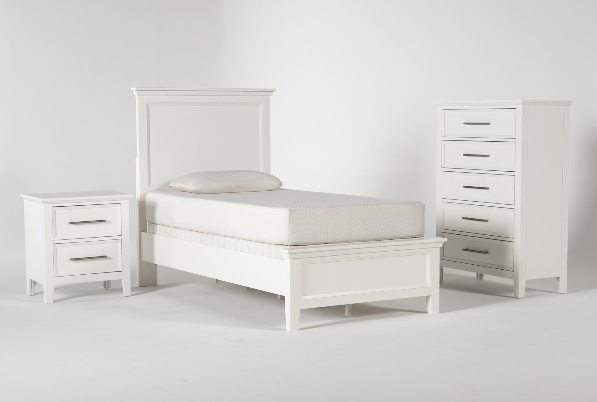 Dawson White Twin 3 Piece Bedroom Set Living Spaces