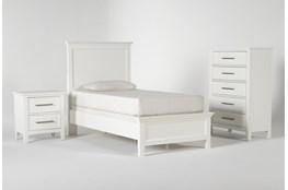Dawson White Twin 3 Piece Bedroom Set