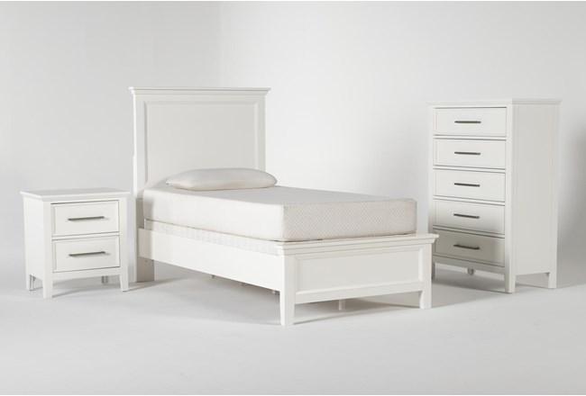 Dawson White Twin 3 Piece Bedroom Set - 360