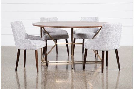 Trina Round 5 Piece Dining Table With Coleen Chairs