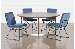 Trina Round 5 Piece Dining Table With York Chairs