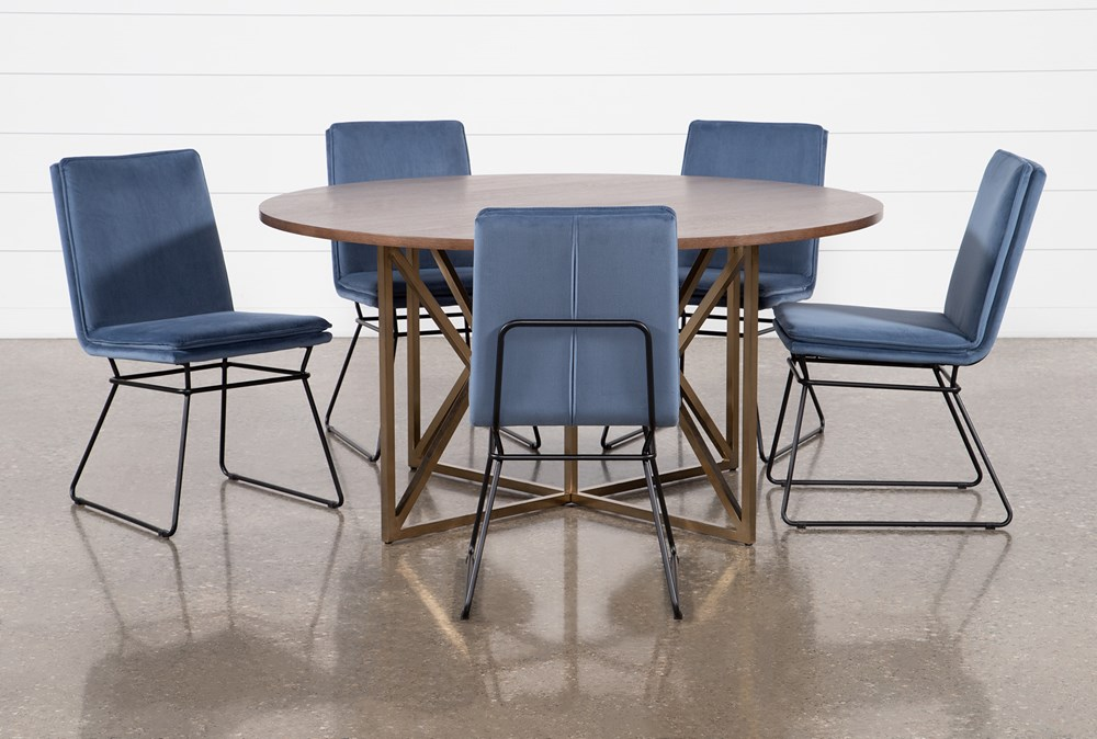 Trina Round 6 Piece Dining Table With York Chairs