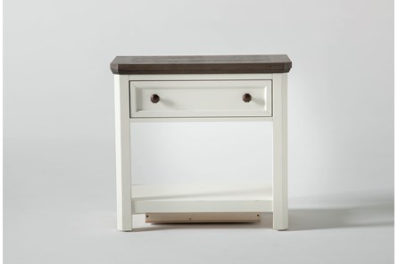 Garland Open Nightstand With USB
