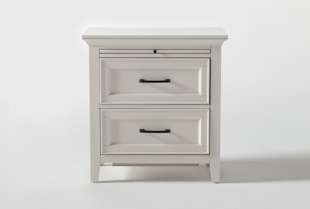 "Presby White 29"" Nightstand With USB"