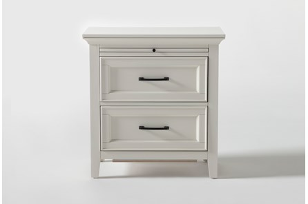 Presby White Nightstand With USB - Main