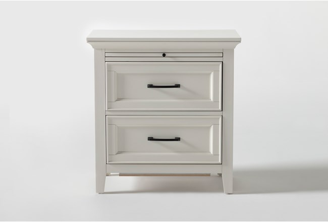 "Presby White 29"" Nightstand With USB - 360"