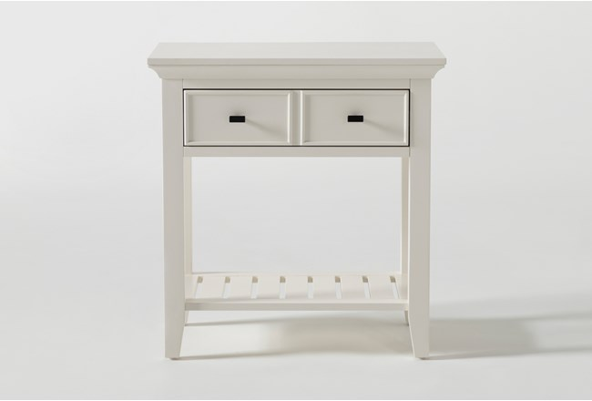 """Presby White Open 29"""" Nightstand With USB - 360"""