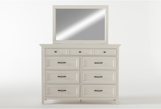 Presby White Dresser/Mirror - 360