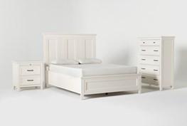 Presby White Queen Panel 3 Piece Bedroom Set