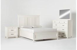 Presby White Queen Panel 4 Piece Bedroom Set