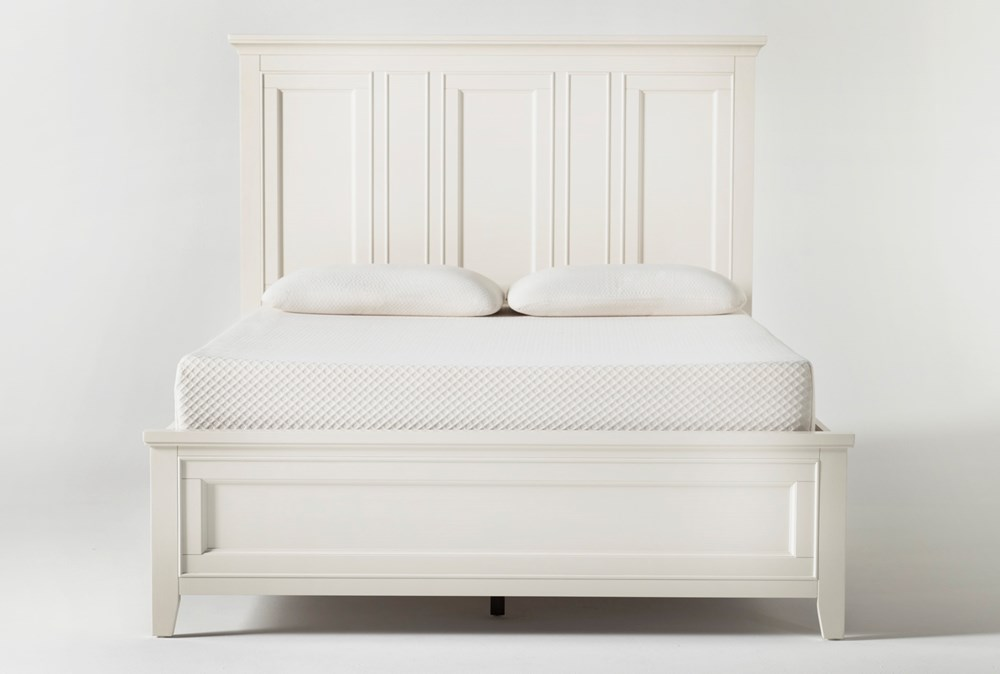 Presby White Queen Panel Bed
