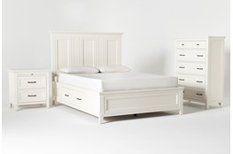 Presby White Queen Storage 3 Piece Bedroom Set