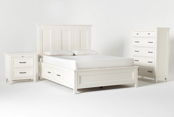 Presby White Queen Storage 3 Piece Bedroom Set