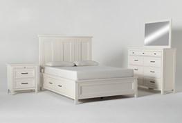 Presby White Queen Storage 4 Piece Bedroom Set