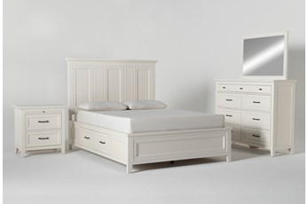 Presby White Queen Storage 4 Piece Bedroom Set