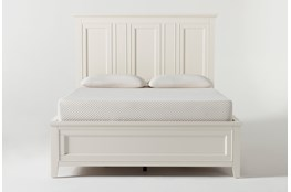 Presby White Queen Panel Bed With Storage