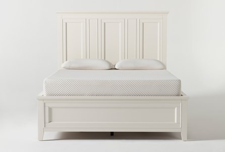 Presby White Queen Panel Bed With Storage - Main