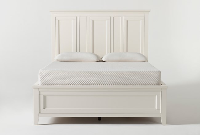 Presby White Queen Panel Bed With Storage - 360