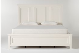 Presby White Eastern King Panel Bed