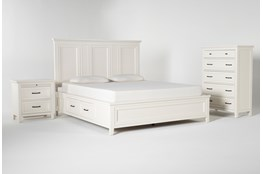 Presby White Eastern King Storage 3 Piece Bedroom Set