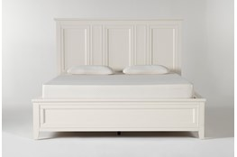 Presby White California King Panel Bed With Storage