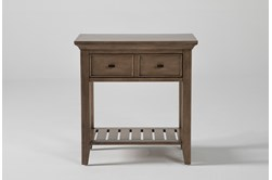 Presby Nutmeg Open Nightstand With USB
