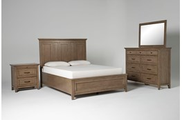 Presby Nutmeg Queen Panel 4 Piece Bedroom Set