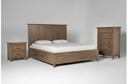Presby Nutmeg Eastern King Storage 3 Piece Bedroom Set