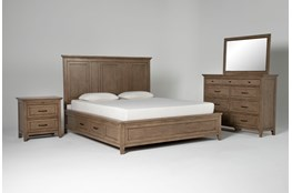 Presby Nutmeg Eastern King Storage 4 Piece Bedroom Set