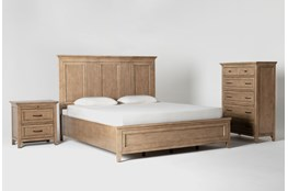 Presby Nutmeg California King Panel 3 Piece Bedroom Set