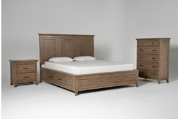 Presby Nutmeg California King Storage 3 Piece Bedroom Set