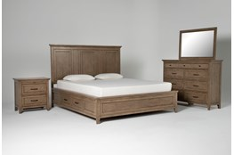 Presby Nutmeg California King Storage 4 Piece Bedroom Set