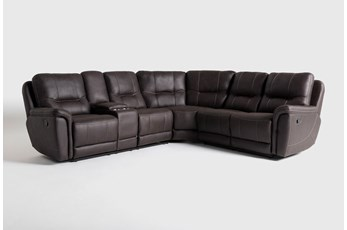"Juniper 3 Piece 104"" Reclining Sectional With Left Arm Facing Console Loveseat"